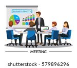 business people having board... | Shutterstock .eps vector #579896296