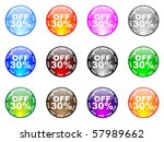 raster image of vector  thirty ... | Shutterstock . vector #57989662