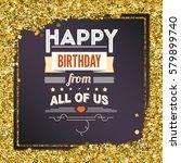 happy birthday  typography ... | Shutterstock .eps vector #579899740