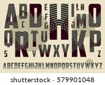 decorated alphabet with... | Shutterstock .eps vector #579901048