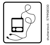 music player headphones icon... | Shutterstock .eps vector #579908530