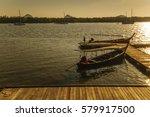 panyee island landmark in south ... | Shutterstock . vector #579917500