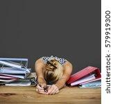 Woman Stress Overload Hard...