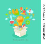 think outside the box  vector... | Shutterstock .eps vector #579919570