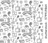 seamless pattern hand drawn...