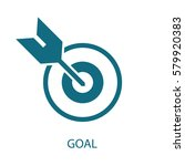 goal icon  | Shutterstock .eps vector #579920383
