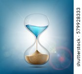 water in hourglass becomes a... | Shutterstock .eps vector #579928333