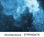 Winter Storm. Abstract Blue...
