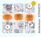 indian food vintage design...   Shutterstock .eps vector #579943573
