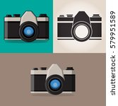 camera icon.  retro camera. | Shutterstock .eps vector #579951589