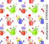 seamless texture with bouquet... | Shutterstock .eps vector #579954160