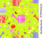 colorful seamless texture with... | Shutterstock .eps vector #579954214