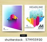 cover design annual report ... | Shutterstock .eps vector #579955930