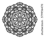 decorative mandala isolated on... | Shutterstock . vector #579956470