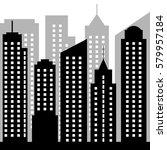 city silhouette  | Shutterstock .eps vector #579957184