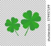 Four Leaf Clover Icon Vector...
