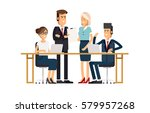 a group of people dressed in... | Shutterstock .eps vector #579957268