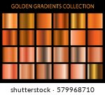 golden gradients collection for ... | Shutterstock .eps vector #579968710