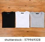 white black t shirt wood | Shutterstock . vector #579969328