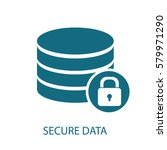 secure data icon | Shutterstock .eps vector #579971290