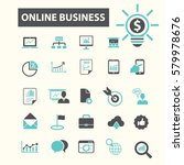 online business icons  | Shutterstock .eps vector #579978676