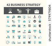 business strategy icons  | Shutterstock .eps vector #579979804
