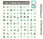 communication icons | Shutterstock .eps vector #579980260