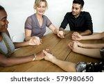 group diversity meeting... | Shutterstock . vector #579980650
