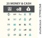cash icons | Shutterstock .eps vector #579981568