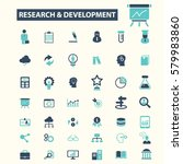 research development icons  | Shutterstock .eps vector #579983860