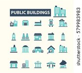buildings icons    Shutterstock .eps vector #579983983