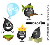 set of oil drops. vector... | Shutterstock .eps vector #579984148