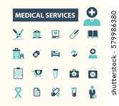 medical services icons | Shutterstock .eps vector #579986380