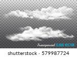 Clouds Vector On Transparent...