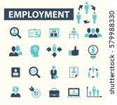 employment icons  | Shutterstock .eps vector #579988330