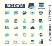 big data icons  | Shutterstock .eps vector #579990448