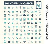communication icons | Shutterstock .eps vector #579990556