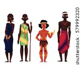 native black skinned people of... | Shutterstock .eps vector #579992320