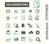 seo marketing icons  | Shutterstock .eps vector #579993820