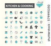 kitchen cooking icons  | Shutterstock .eps vector #579995350