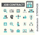 job contract icons | Shutterstock .eps vector #579995428