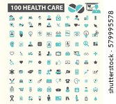 health care icons | Shutterstock .eps vector #579995578