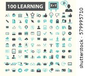 learning icons  | Shutterstock .eps vector #579995710
