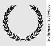 laurel wreath  sports emblem ... | Shutterstock .eps vector #579995770
