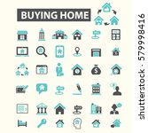 buying home icons | Shutterstock .eps vector #579998416