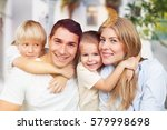 family on the background. | Shutterstock . vector #579998698