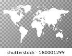 detailed white worldwide map on ... | Shutterstock .eps vector #580001299