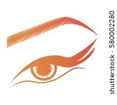 illustration with woman's eye... | Shutterstock .eps vector #580002280