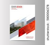abstract flyer design...   Shutterstock .eps vector #580006378