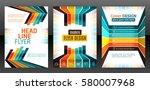 abstract stripes vector... | Shutterstock .eps vector #580007968